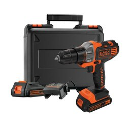 Black and Decker - 18V Cordless Multievo Multi tool with Drill Driver head 2x 15Ah Batteries 400mA Charger and a Screwdriver bit in a Kitbox - MT218KB
