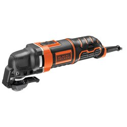 Black and Decker - 300W Corded Oscillating Multitool with 12 Accessories in a Kitbox - MT300KA