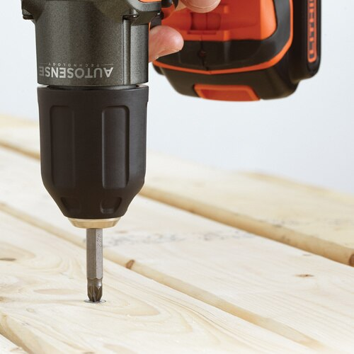 Black And Decker - 18V Lithiumion Cordless Drill Driver with Autosense and Autoselect Technology with Kitbox - ASD184K