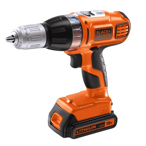 Black and Decker - 18V Lithiumion Autoselect Cordless Hammer Drill with Kit Box - ASL188K