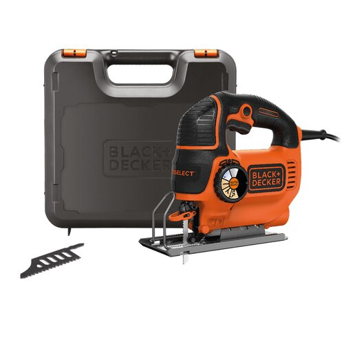 Black and Decker - 620W AUTOSELECT Pendulum Jigsaw with blades and Kit box - KS901SEK