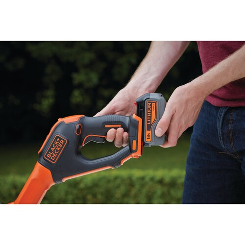 Black and Decker - 18V 30CM 40Ah POWERCOMMAND Easy Feed  Strimmer Grass String Trimmer - STC1840EPC